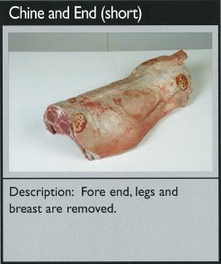 Cuts of lamb - chine and end (short)