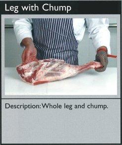 Cuts of lamb - leg with chump