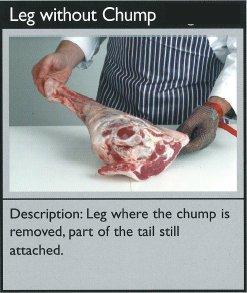 Cuts of lamb - leg without chump