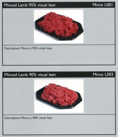Cuts of lamb - minced lamb 95% visual lean / minced lamb 90% visual lean