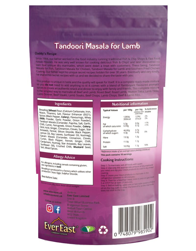 Lamb Tandoori Masala 100g easy lamb dry-rub marinade Euro Quality Lambs