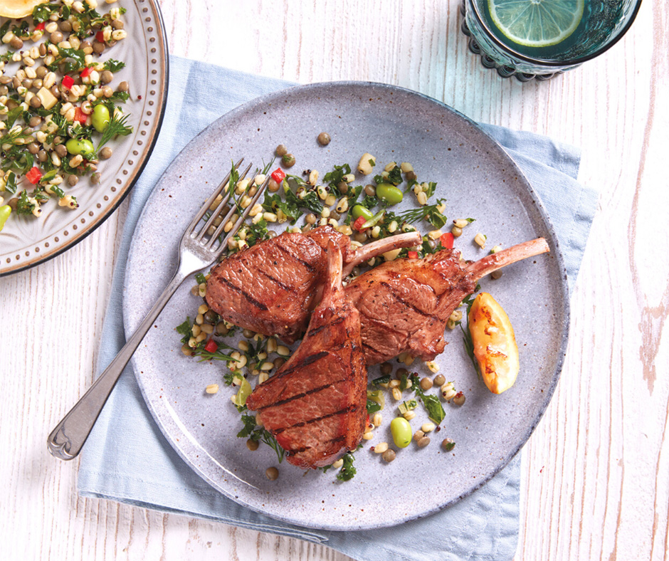 Sticky Maple-Glazed Lamb Chops