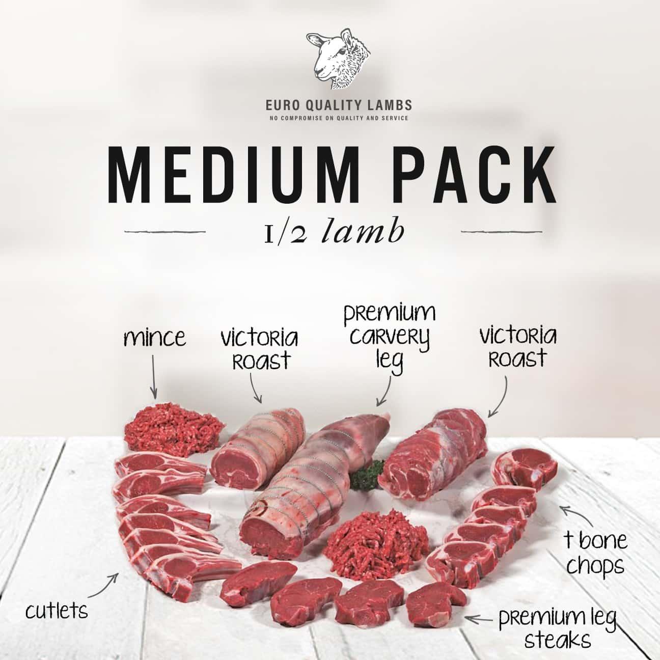 Medium Pack Half Lamb